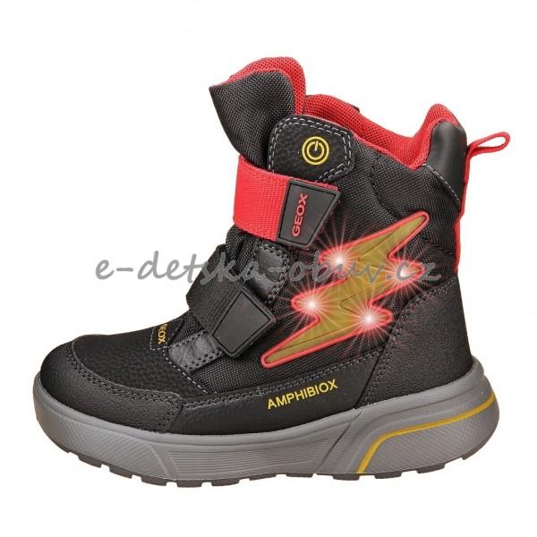 Dětská obuv - GEOX J Sveggen  black red  95def921d4