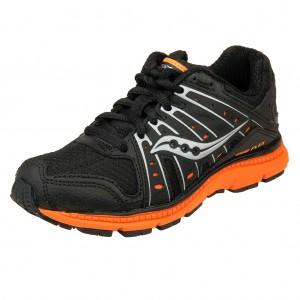 Dětská obuv Saucony Grid flex  /blk/slvr/org - Boty a dětská obuv