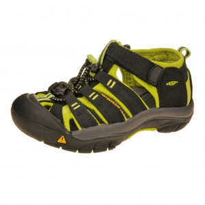 Dětská obuv KEEN Newport H2   /black/lime green - Boty a dětská obuv