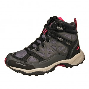 Dětská obuv VIKING Ascent JR GTX  /charcoal/purple -