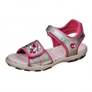 Dětská obuv GEOX J Sand. Cuore  /silver -  Sandály