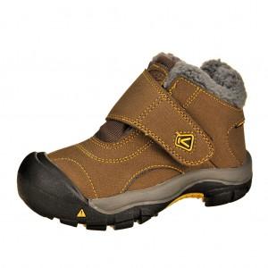 Dětská obuv KEEN Kootenay   /dark earth/spectra yellow -  Zimní