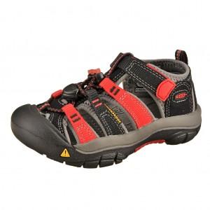 Dětská obuv KEEN Newport H2 /black/racing red -  Sandály