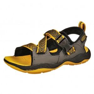 Dětská obuv KEEN Rock Iguana  /black/yellow  -  Sandály