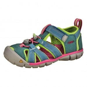 Dětská obuv KEEN Seacamp   /everglade/jasmine green -  Sandály