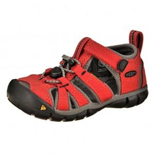 Dětská obuv KEEN Seacamp   /racing red/gargoyle -  Sandály