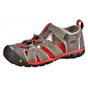 Dětská obuv KEEN Seacamp   /magnet/racing red -  Sandály