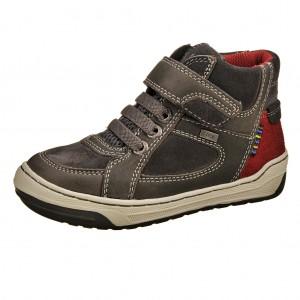 Dětská obuv Lurchi Barney-tex  /charcoal/dk.red -  Celoroční