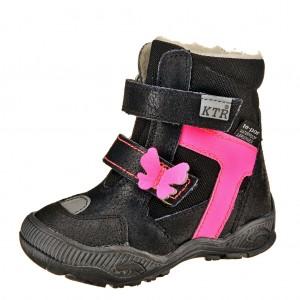 Dětská obuv KTR 315/1/T   /černá/růžová - Boty a dětská obuv
