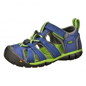 Dětská obuv KEEN Seacamp   /true blue/jasmine green -  Sandály