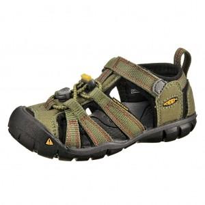 Dětská obuv KEEN Seacamp   /bronze green/chili pepper -  Sandály