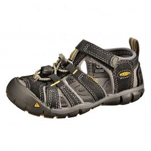 Dětská obuv KEEN Seacamp   /black/yellow - Boty a dětská obuv