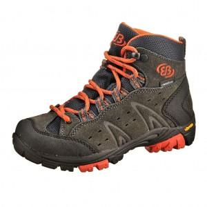 Dětská obuv Brütting Mount Bona High   /anthrazite/orange - Boty a dětská obuv