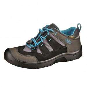 Dětská obuv KEEN Hikeport WP  /black/blue jewel - Boty a dětská obuv