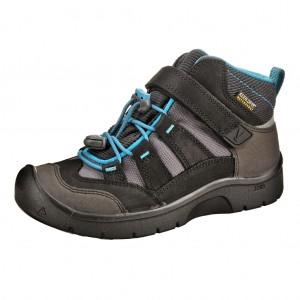 Dětská obuv KEEN Hikeport MID WP  /black/blue jewel - Boty a dětská obuv