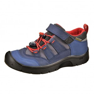 Dětská obuv KEEN Hikeport WP  /dress blues/firey red -  Celoroční