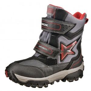 Dětská obuv GEOX J Himalaya ABX   /black/red -  Zimní