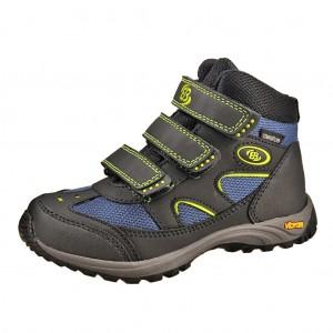 Dětská obuv Brütting Snowfun V   /schwarz/blau/lemon - Boty a dětská obuv