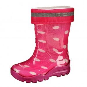 Dětská obuv Gumovky zateplené růžové - Gumovky