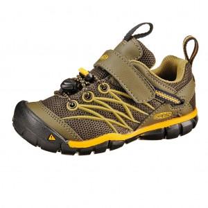 Dětská obuv KEEN Chandler   /dark olive/citrus - Boty a dětská obuv