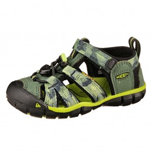 Dětská obuv KEEN Seacamp   /duck green/greenery - Boty a dětská obuv