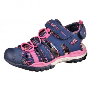 Dětská obuv GEOX Borealis  /navy/fuchsia - Boty a dětská obuv