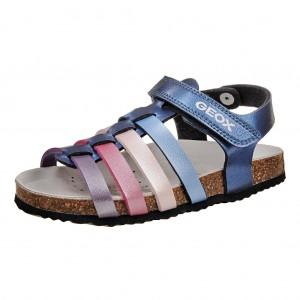 Dětská obuv GEOX Aloha  /navy/fuchsia - Boty a dětská obuv