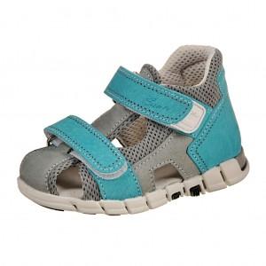 Dětská obuv Sandálky Santé 810/401 /tyrkysovo/šedé -  Na doma a do škol(k)y