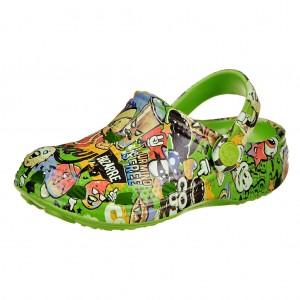 Dětská obuv Coqui   /lime potisk -  Sandály