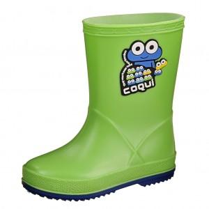 Dětská obuv Gumovky Coqui  /lime blue - Gumovky