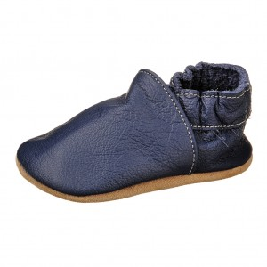 Dětská obuv Capáčky - BaBice Modré *BF -  Na doma a do škol(k)y