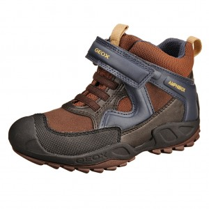Dětská obuv GEOX J Savage B   /brown/navy - Boty a dětská obuv