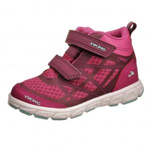 Dětská obuv VIKING VEME MID GTX   dark pink/mint - Boty a dětská obuv