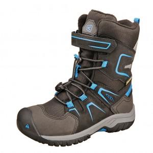 Dětská obuv KEEN Levo Winter  WP  /black/baleine blue -  Zimní