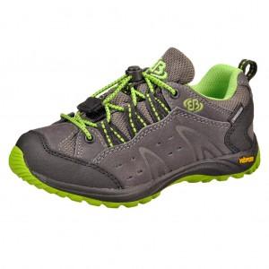 Dětská obuv Brütting Mount Bona Low /anthrazit/schwarz/lemon - Boty a dětská obuv