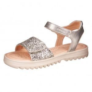 Dětská obuv GEOX J S.Coralie  /silver  - Boty a dětská obuv