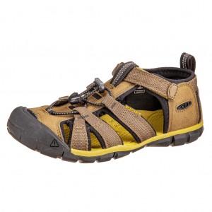 Dětská obuv KEEN Seacamp   /dark olive/black - Boty a dětská obuv