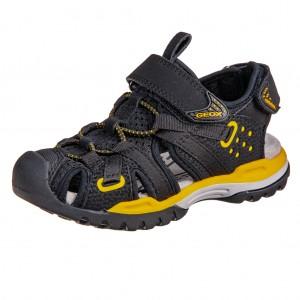 Dětská obuv GEOX Borealis  /black/yellow - Boty a dětská obuv