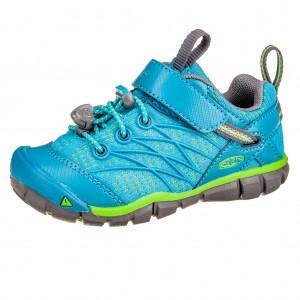 Dětská obuv KEEN Chandler   /tahitian tide/bright green - Boty a dětská obuv