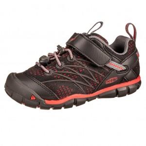 Dětská obuv KEEN Chandler   /raven/fiery red -  Celoroční