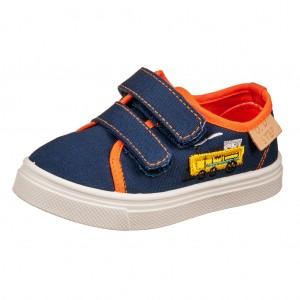 Dětská obuv D.D.Step plátěnky royal blue -  Celoroční