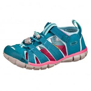 Dětská obuv KEEN Seacamp   /deep lagoon/bright pink -  Sandály