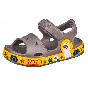 Dětská obuv Coqui sandálky Fobee /grey/yellow -  Sandály