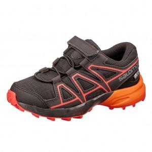 Dětská obuv Salomon Speedcross CSWP K  /black - Boty a dětská obuv