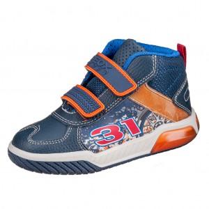 Dětská obuv GEOX J Inek B  /navy/orange - Boty a dětská obuv