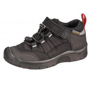 Dětská obuv KEEN Hikeport WP  /black/bright red -  Celoroční