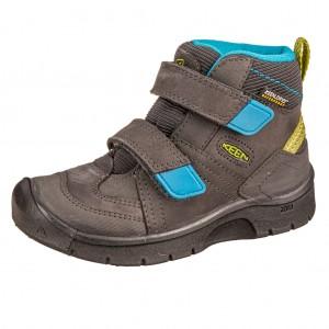 Dětská obuv KEEN Hikeport MID strap WP  /magnet/greenery -  Celoroční