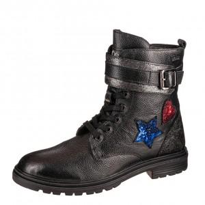 Dětská obuv s'Oliver kozačky 45209  /black - Boty a dětská obuv