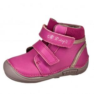 Dětská obuv D.D.Step 018-42A  Dark pink -  Zimní