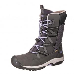 Dětská obuv KEEN Hoodoo WP  /black/sweet lavender -  Zimní